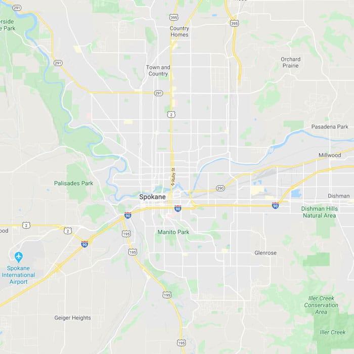 Locksmith Spokane WA map
